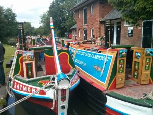 narrowboat, wooden, working boat