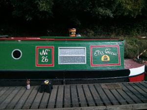 narrowboat, signwriting,