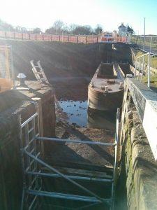 Foxton locks, grand union, empty,