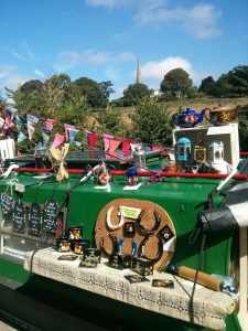 roving trader, braunston, canal, trading, canal art