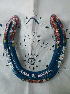 horseshoes, blue, wedding, gift