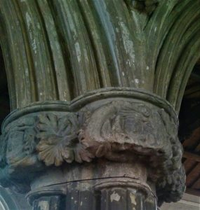medieval carvings, stoke golding, leicestershire