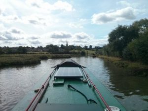 braunston, oxford canal, narrowboat, pea green