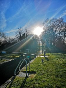 Welford Lock i the winter sun