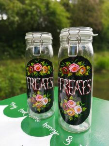 clip top treats jars
